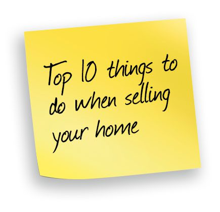 Top 10 thing to do when selling your home